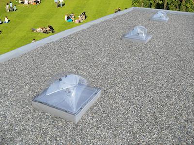 ecosol sun tracker op dak met park